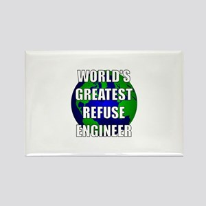 World's Greatest Refuse Engin Rectangle Magnet