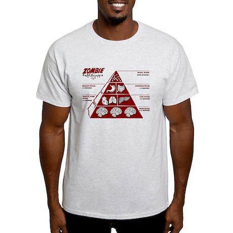 Zombie Food Pyramid Light T-Shirt