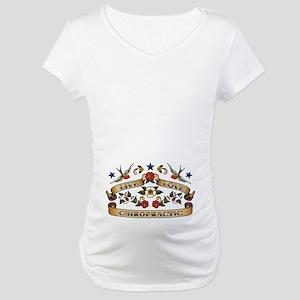 Live Love Chiropractic Maternity T-Shirt