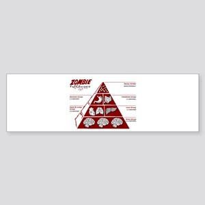 Zombie Food Pyramid Bumper Sticker