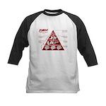 Zombie Food Pyramid Kids Baseball Jersey