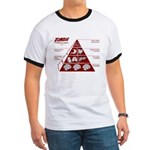 Zombie Food Pyramid Ringer T