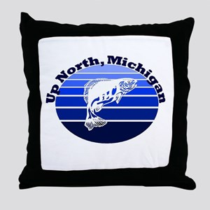 Up North, Michigan Throw Pillow