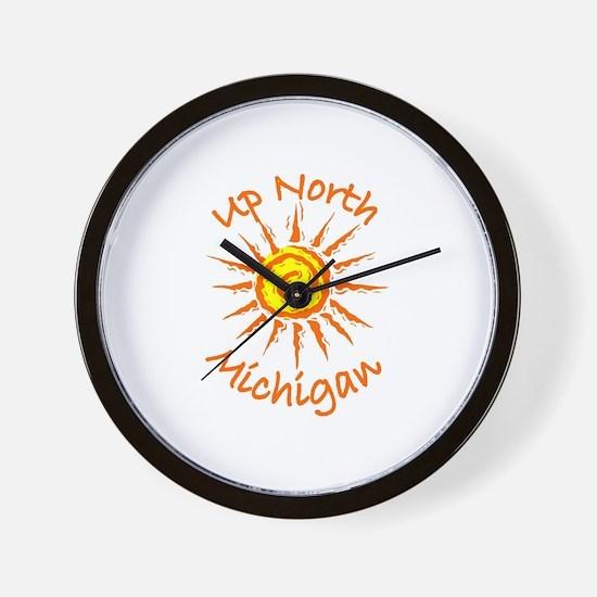 Up North, Michigan Wall Clock