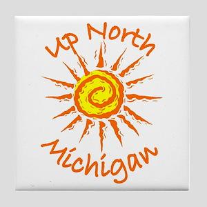 Up North, Michigan Tile Coaster