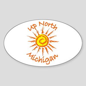 Up North, Michigan Oval Sticker