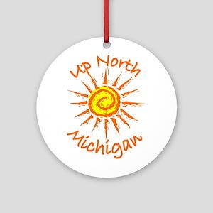 Up North, Michigan Ornament (Round)
