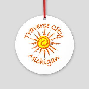 Traverse City, Michigan Ornament (Round)