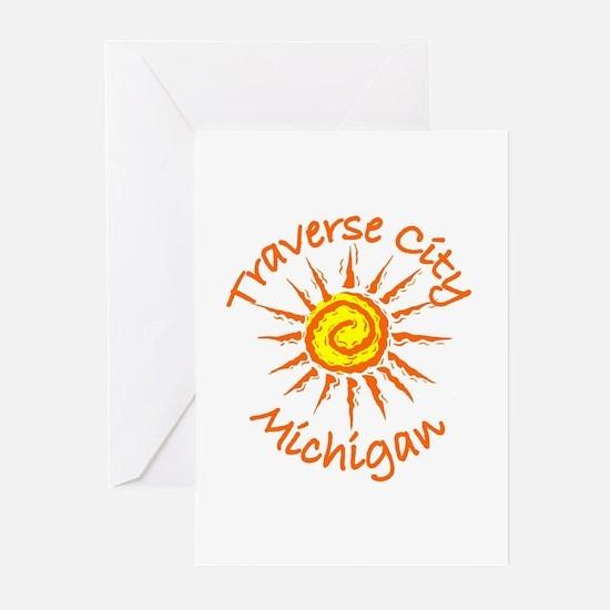 Traverse City, Michigan Greeting Cards (Pk of 10)