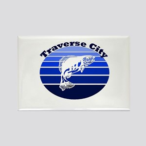 Traverse City, Michigan Rectangle Magnet