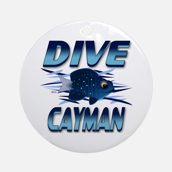 Dive Cayman (blue) Keepsake (Round)