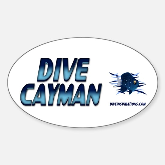 Dive Cayman (blue) Oval Decal