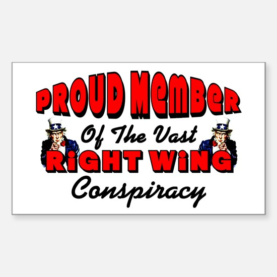 """""""Vast Right Wing Conspiracy"""" Decal"""