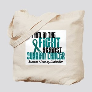 In The Fight Ovarian Cancer 1 (Godmother) Tote Bag