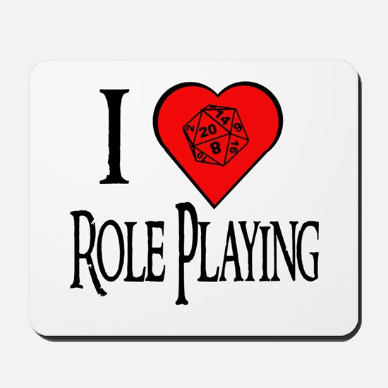 D20 I Heart Role Playing Mousepad