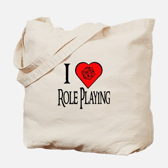 D20 I Heart Role Playing Tote Bag