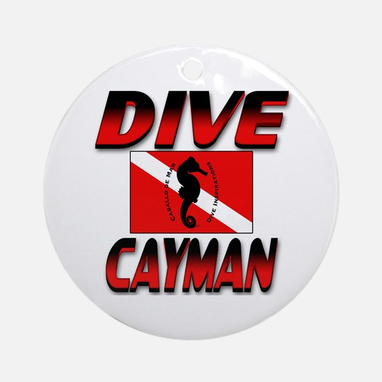 Dive Cayman (red) Keepsake Round Ornament