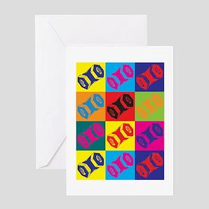 Concertina Pop Art Greeting Card