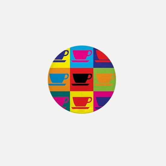 Coffee Pop Art Mini Button