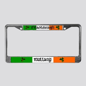 Mullany in Irish & English License Plate Frame