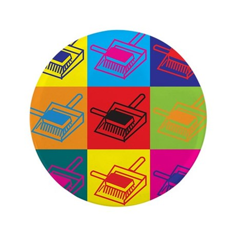 "Cleaning Pop Art 3.5"" Button (100 pack)"