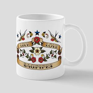 Live Love Bagpipes Mug