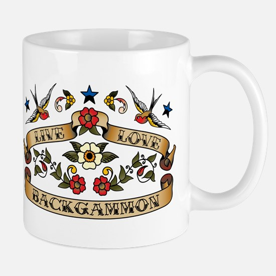 Live Love Backgammon Mug