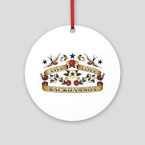Live Love Backgammon Ornament (Round)