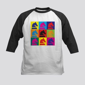 Chess Pop Art Kids Baseball Jersey
