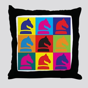 Chess Pop Art Throw Pillow