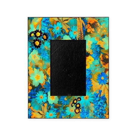 Blue and Yellow Spring Flowers Picture Frame