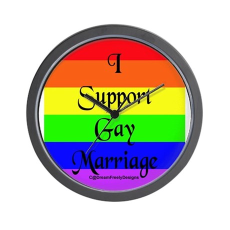 Support Gay Marriage Wall Clock