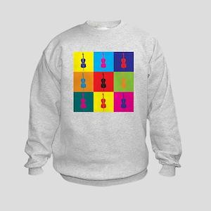 Cello Pop Art Kids Sweatshirt