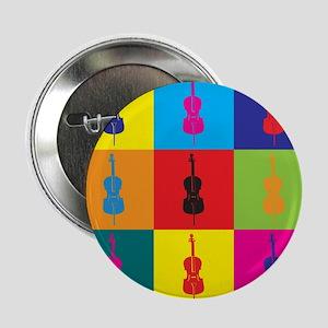 """Cello Pop Art 2.25"""" Button"""
