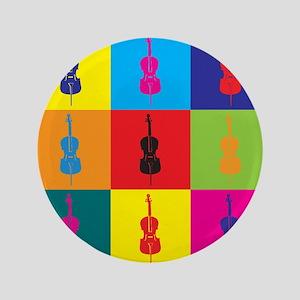 """Cello Pop Art 3.5"""" Button"""