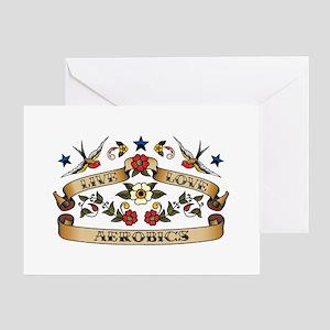 Live Love Aerobics Greeting Card