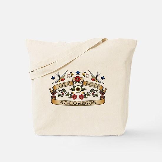Live Love Accordion Tote Bag