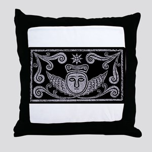 grave rubbing Throw Pillow