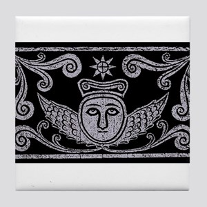 grave rubbing Tile Coaster