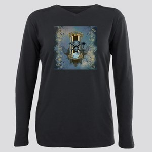 Awesome skull with crow in blue colors T-Shirt