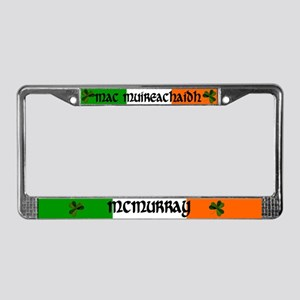 McMurray in Irish & English License Plate Frame