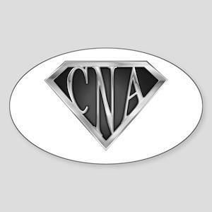SuperCNA(metal) Oval Sticker