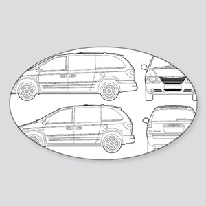 Chrysler Voyager Oval Sticker