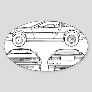 DeLorein Oval Sticker