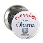 """Bloggers for Obama 2.25"""" Button"""