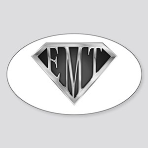 SuperEMT(METAL) Oval Sticker