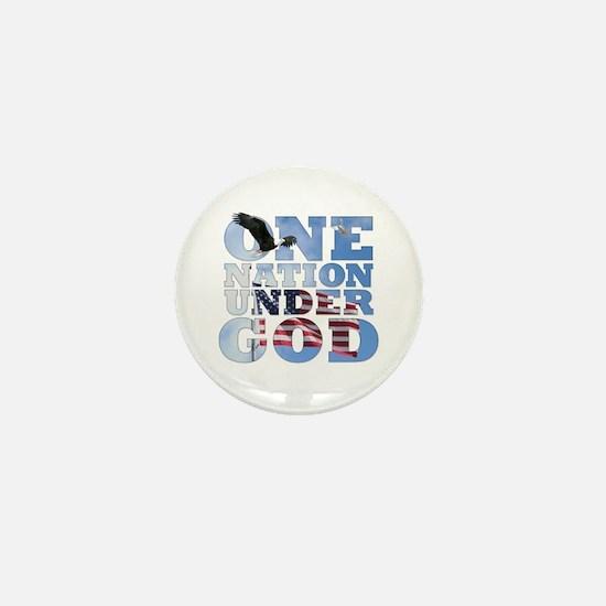 """One Nation Under God"" Mini Button"