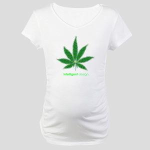 Intelligent Cannabis Maternity T-Shirt
