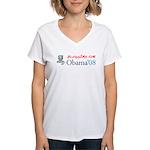 Bloggers for Obama Women's V-Neck T-Shirt