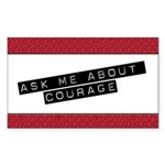 Ask Me About Courage Rectangle Sticker 50 pk)